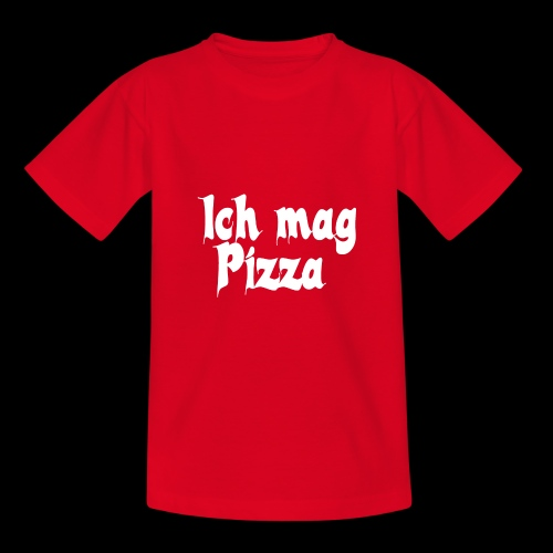 Pizza Logo white - Teenager T-Shirt