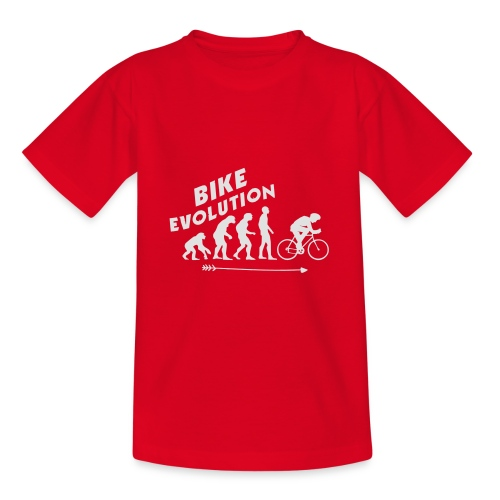 Bike Evolution (WHITE) - Teenager T-Shirt