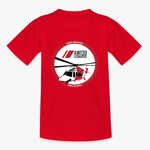 AW139 SAR Diseño Frontal - Camiseta adolescente