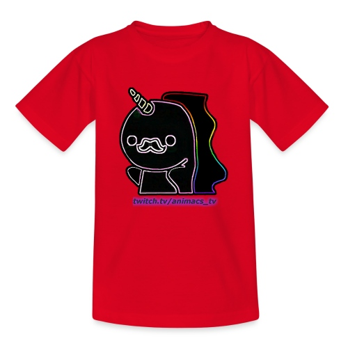 Einhornneon randlos - Teenager T-Shirt