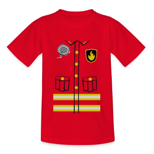 Firefighter Costume - Teenage T-Shirt