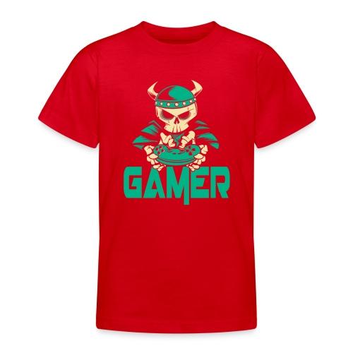 gamer skelett wikinger - Teenager T-Shirt