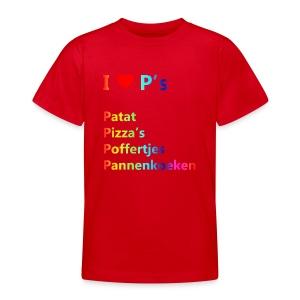 Ik hou van P kindershirt - Teenager T-shirt