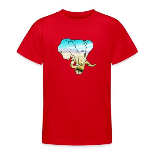 Elefant mit Steppe - Teenager T-Shirt