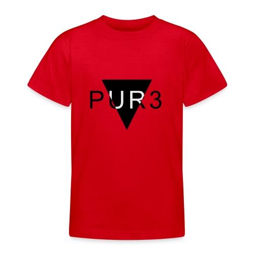 Pur3 grå hettegenser - T-skjorte for tenåringer