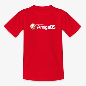 PoweredByAmigaOS white - Teenage T-shirt