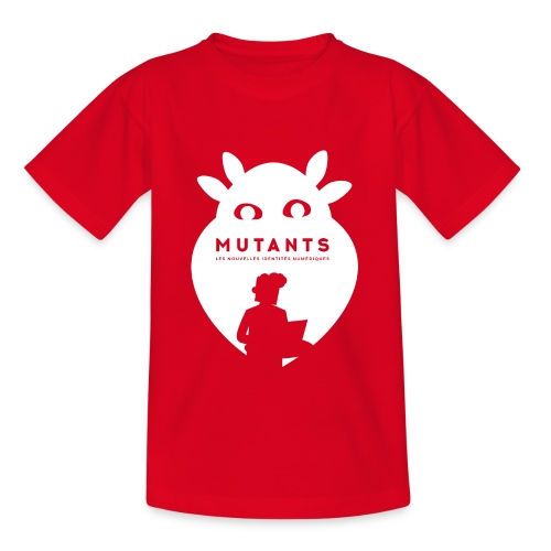 mutant H blanc - T-shirt Ado
