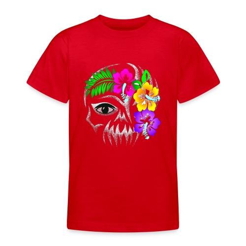 Alien Flower Skull - Teenager T-Shirt