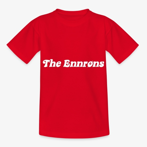 TheEnnrons white text - Teenager T-shirt