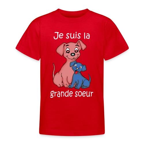 Je suis la grande soeur chiot - T-shirt Ado