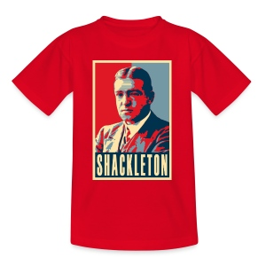 Sir Ernest Shackleton (red, white & blue colours) - Teenage T-shirt