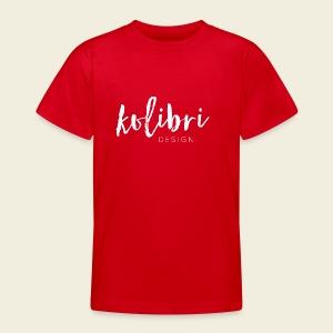 Logo Kolibri Design weiss - Teenager T-Shirt