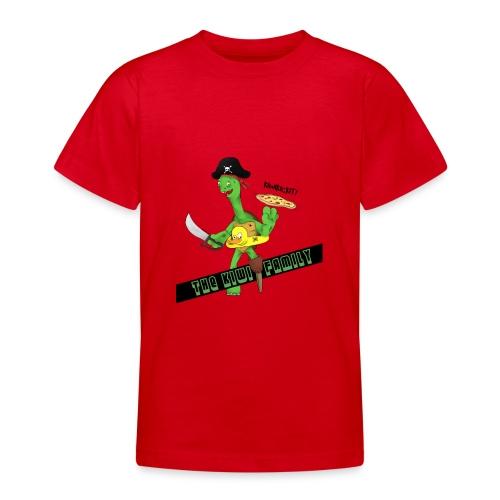 The kiwi family logo - T-skjorte for tenåringer