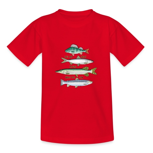 10-34B FOUR FISH - Tekstiili- ja lahjatuotteet. - Nuorten t-paita