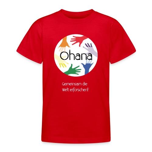 Logo mit weißem Text - Teenager T-Shirt