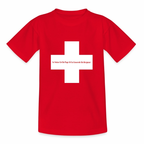 Design Super Suisse - T-shirt Ado