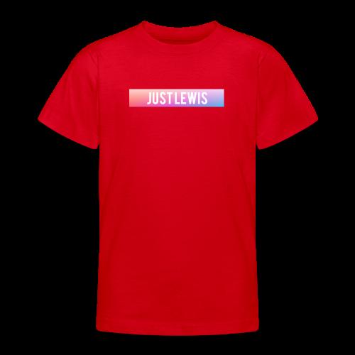 Just Lewis Box Logo - Teenage T-shirt