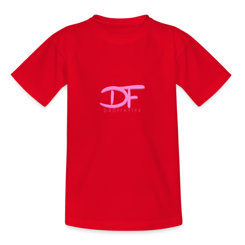 Dropfayter Logo - DF Roze - Teenager T-shirt