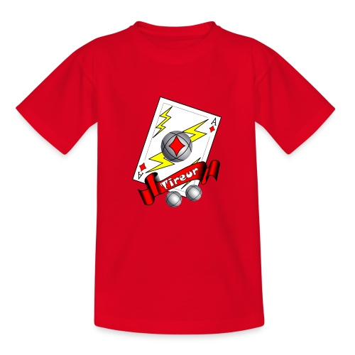 t shirt petanque tireur as du carreau boules - T-shirt Ado