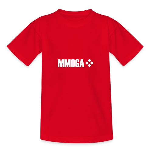 mmoga-logo-white-8817x2008-vector - Teenager T-Shirt