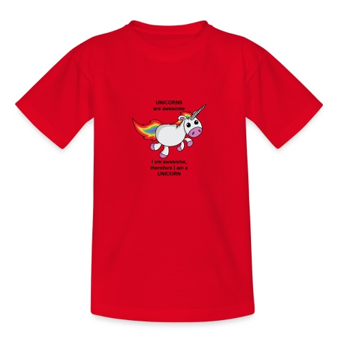 Unicorns are awesome - Teenage T-shirt