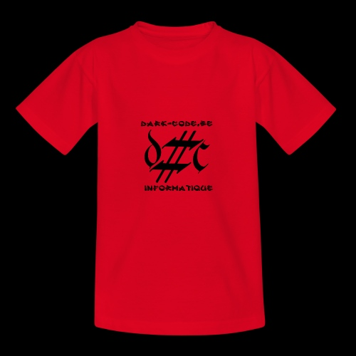 Dark-Code Black Gothic Logo - T-shirt Ado