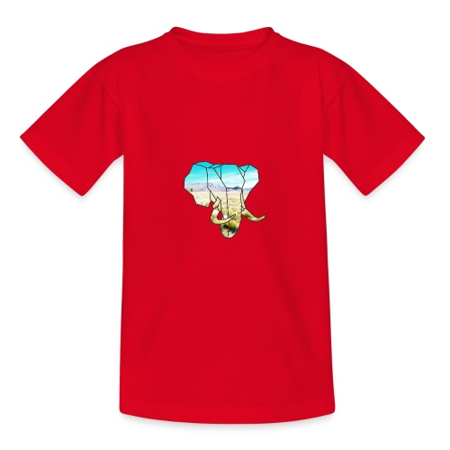 Elefant mit Steppe - Teenager T-Shirt