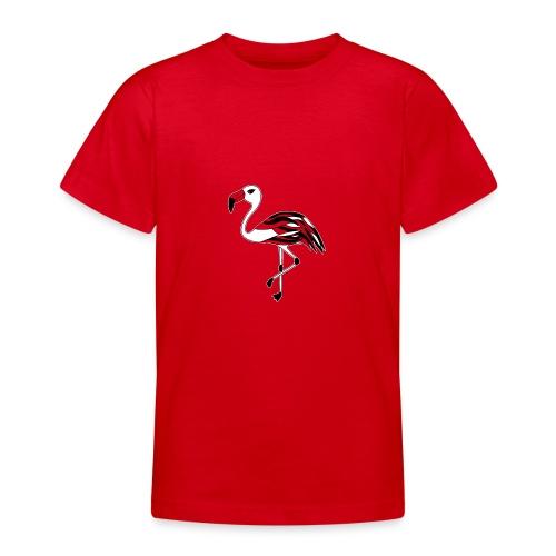 Flamingo schwarz-weiss - Teenager T-Shirt