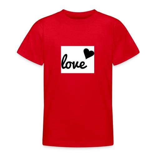 Handyhülle schwarz weiß love - Teenager T-Shirt