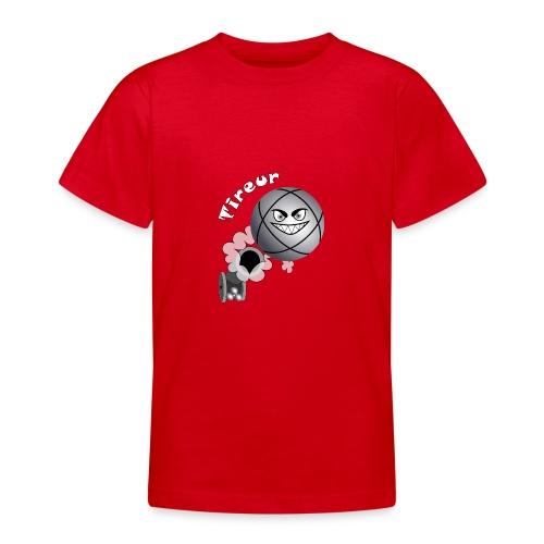 t shirt tireur pétanque boule existe en pointeur B - T-shirt Ado