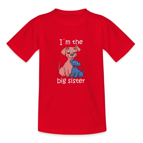 I'm the Big Sister puppy - Teenage T-Shirt