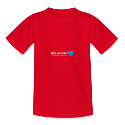 blaues Herz - Teenager T-Shirt