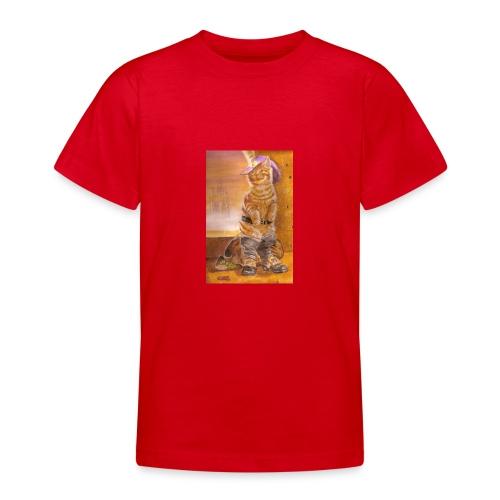 gatto_con_gli_stivali_-_su_foglio_da_disegno_-_pit - Maglietta per ragazzi