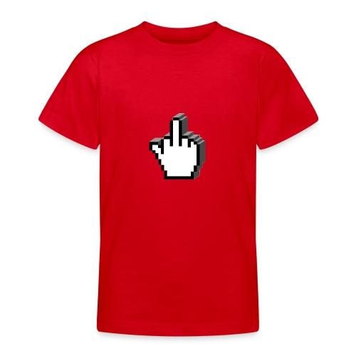 Middle_Finger_Design - Teenage T-shirt
