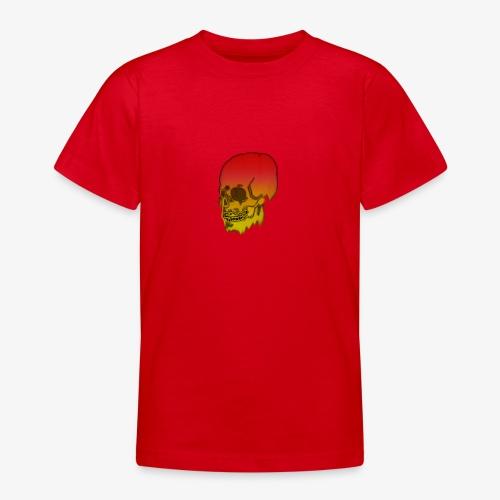 Red and yellow skull melting - Teenage T-Shirt