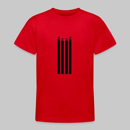 rayzor streifen logo - Teenager T-Shirt