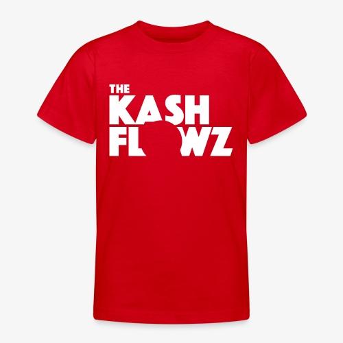 The Kash Flowz Official Logo White - T-shirt Ado