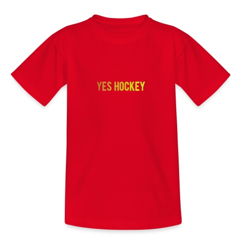 Yes Hockey Logo- Orange - Teenage T-Shirt