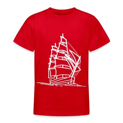 Segelschiff Illustration Meer Schiff Bootsfahrt - Teenager T-Shirt