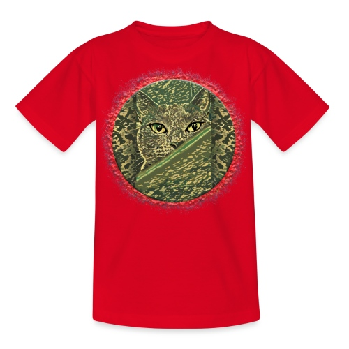 CAT GRACE CAMOUFLAGE - Teenager T-Shirt