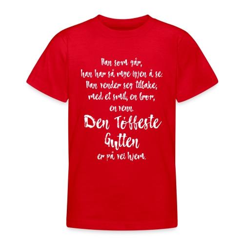 Den tøffeste gutten - T-skjorte for tenåringer