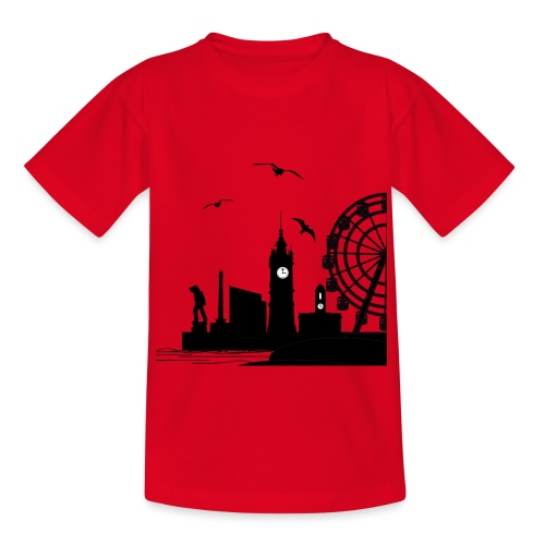 Silhouette of Margate - Teenage T-Shirt