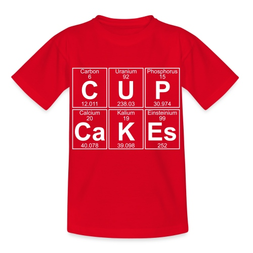 C-U-P-Ca-K-Es (cupcakes) - Full - Teenage T-Shirt