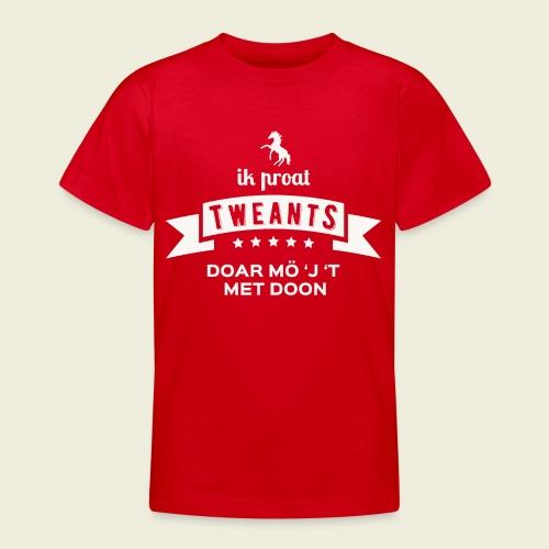 Ik proat Tweants...(lichte tekst) - Teenager T-shirt