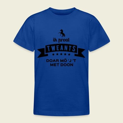 Ik proat Tweants...(donkere tekst) - Teenager T-shirt