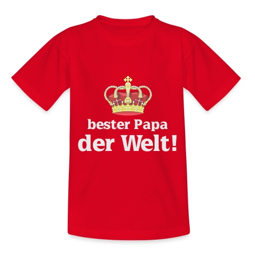 bester papa krone hell - Teenager T-Shirt