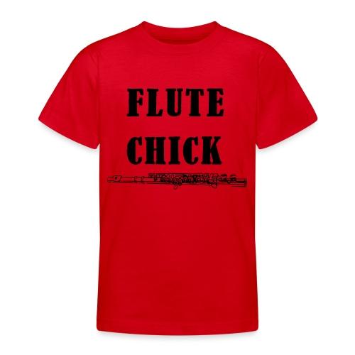 Flute Chick - T-skjorte for tenåringer