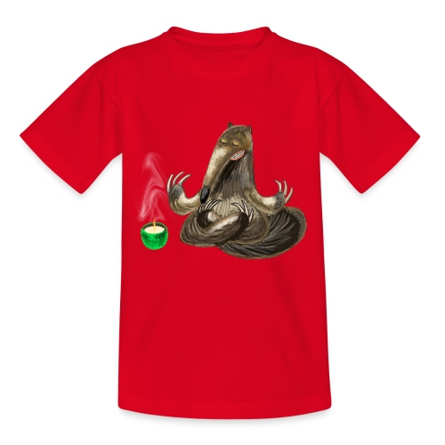 Meditating Ant eater design / print - Teenage T-Shirt