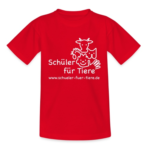 Logo Weiß (2x) - Teenager T-Shirt