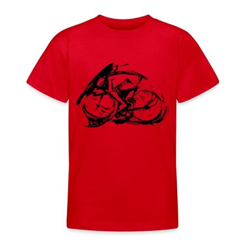 futuristischer radfahrer - Teenager T-Shirt